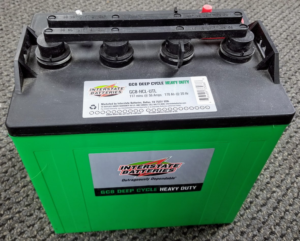Interstate Deep Cycle Marine Battery >> Interstate 8 Volt Deep Cycle Golf Cart Marine Solar And Rv Batteries