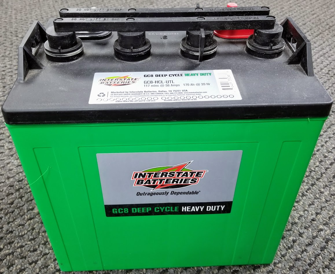 6 PACK - Interstate 8V Volt Deep Cycle Golf Cart, Solar, Marine, RV and  Industrial Use Batteries