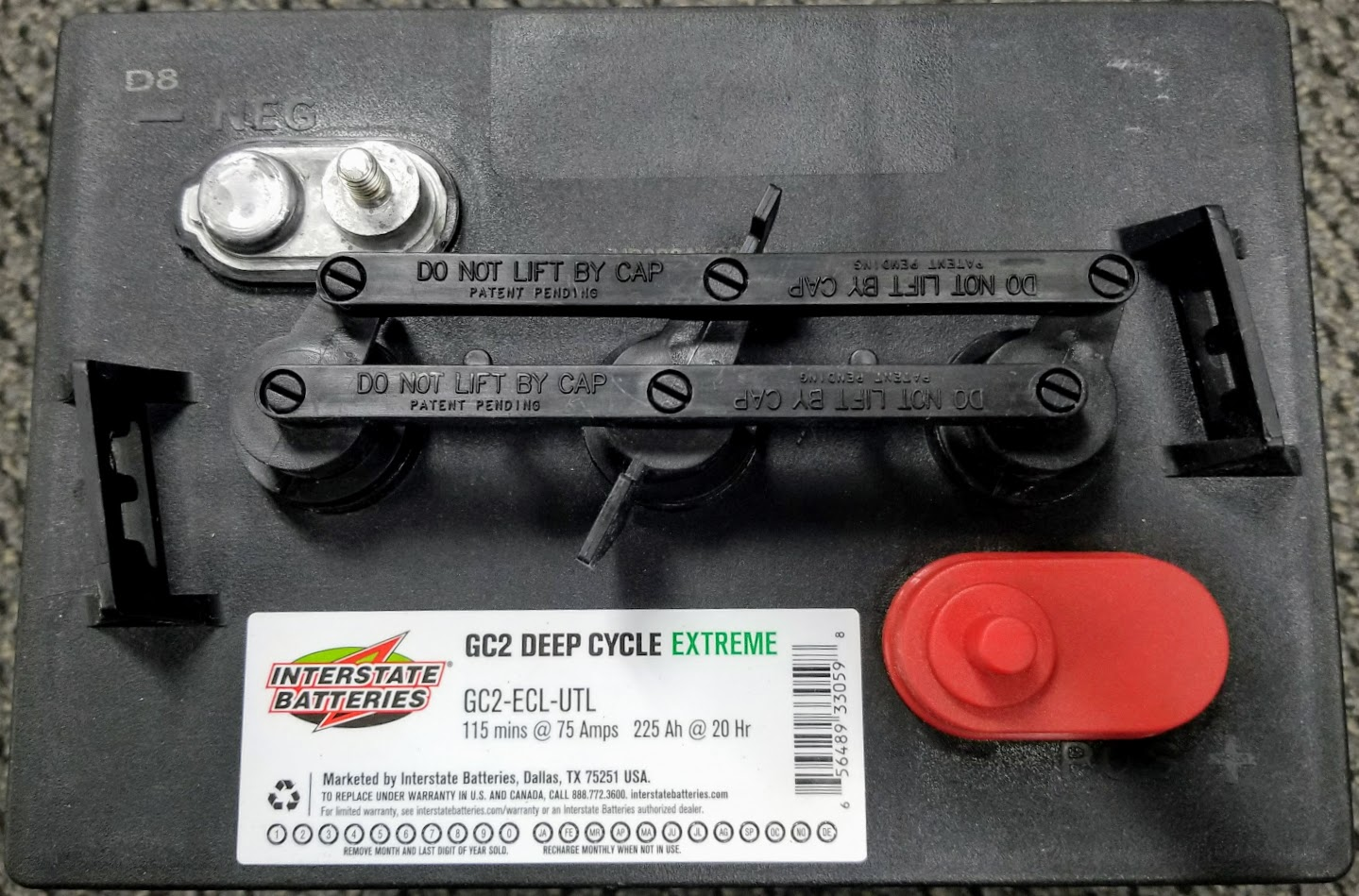 Interstate Deep Cycle Marine Battery >> Interstate 6 Volt Deep Cycle Golf Cart, Marine, Solar and ...