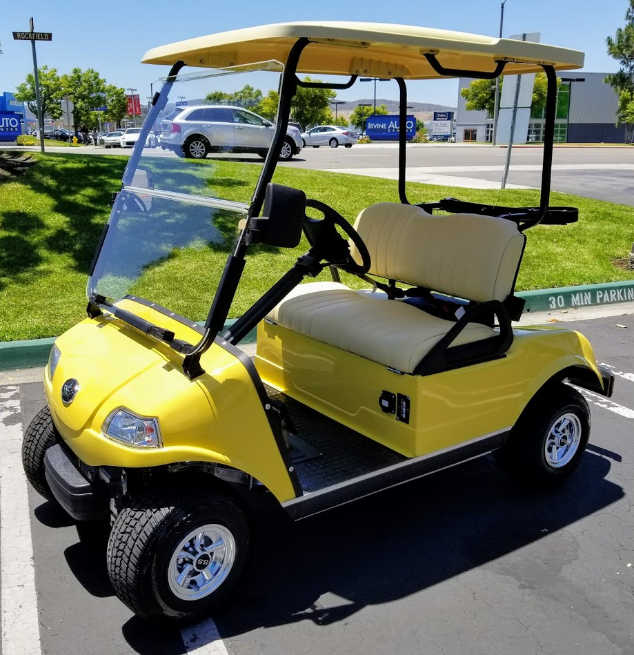Yellow Evolution Clic 2 Electric Golf Cart