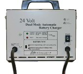 Charger, 24-Volt Dual Mode Automatic/12Amp, 120V/60Hz