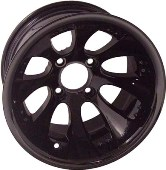 10X7 Claw, Painted Black Wheel