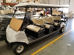 2019 BLACK Evolution Carrier 6 AC Electric 6 Passenger Golf Cart - Street Legal Option Available