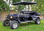 2010 EzGo 48V Electric 6 Passenger Golf Cart L6 48V Limo Black