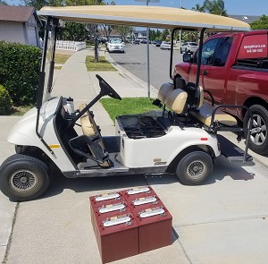 6 PACK - Trojan T-105 Plus 6V Volt Deep Cycle Golf Cart, Solar, Marine, RV and Industrial Use Battery
