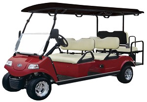 2020 RED Evolution Carrier 6 AC Electric 6 Passenger Golf Cart - Street Legal Option Available