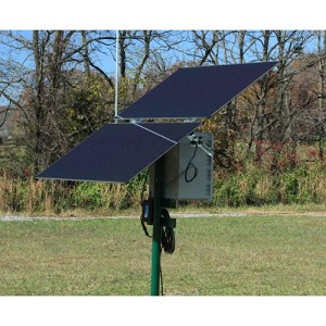 Remote Site Solar Power System, 24V Battery/120W Panel