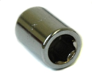 GEM CHROME LUG NUT, TUNER STYLE, 12MM