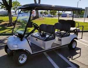 Red Evolution Carrier 6AC Electric Golf Cart 6 Passenger